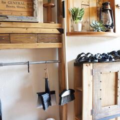 ひなたライフ/掃除/雑貨/インテリア/住まい/玄関/... おはようございます。 玄関の掃除用のホウ…