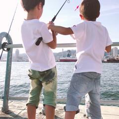 お出かけ/釣り/子ども おはようございます。 昨日は夏休み最後の…