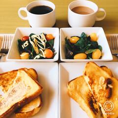 朝ゴパン/わたしのごはん/おうちごはんクラブ お久しぶりの  相棒と朝ゴパン🥪 そして…