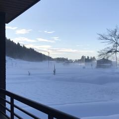 風景/雪国/ベランダ