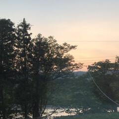 我が家からの風景/夕日/空/田舎 (1枚目)