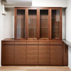 ウォールナット/壁面収納/オーダーメイド/オーダー家具/オリジナル家具