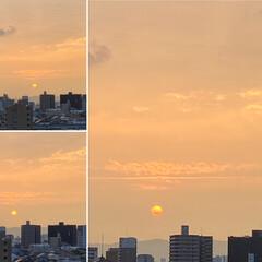 空/夕日 今日も1日が終わりそうです😊 久しぶりに…(1枚目)