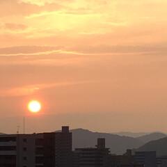 風景 雨上がりの夕陽