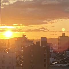 空/夕日 今週も無事におわりそうです😊💕 一週間み…(2枚目)