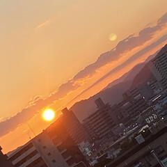 暮らし 昨夜の豪雨が嘘のような夕陽です😅 涼しい…(1枚目)