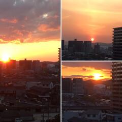 ありがとう平成/風景/平成最後の一枚 この一か月の間に日の入りの場所が右手に移…