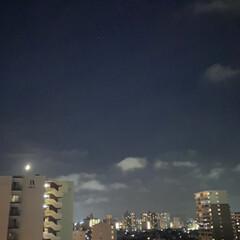 ベランダ 今宵の月は静かに輝いています🌙