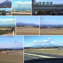 風景 昨夜雪の中高速バスで🚌無事に新宿に着いて…