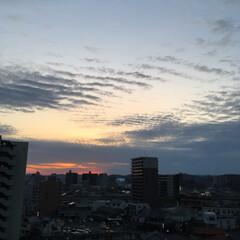 風景 久しぶりに西の空に地震雲がはっきりと見ら…
