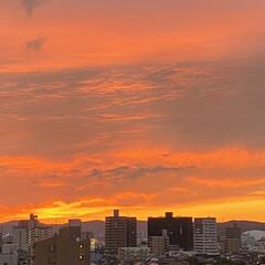 空/夕日 連休が静かに終わりそうです😊💕 台風が直…(2枚目)