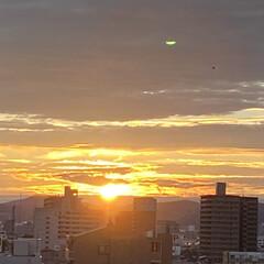 空/夕日 静かに日没です💕(1枚目)