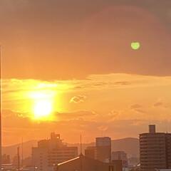 空/夕日 今日の夕陽は鮮やかでした😃💕(2枚目)
