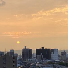 空/夕日 今日も1日が終わりそうです😊 久しぶりに…(2枚目)