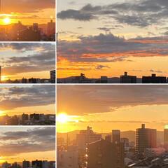 空/夕日 今週も無事におわりそうです😊💕 一週間み…