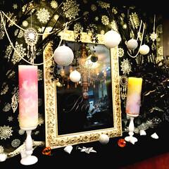 クール/クリスマスディスプレイ/黒 今年のクリスマスはクールに黒を基調にディ…