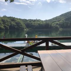 湖畔/キャンプ 7月末 台風が来る直前 友人家族との湖畔…