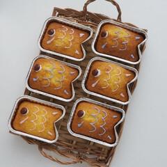 スイーツ/カップケーキ/おやつ/おうちカフェ/こどもの日/鯉のぼり 鯉のぼりのカップケーキです♪  100均…