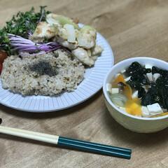 簡単レシピ/ミニトマト/味噌汁/赤ラディッシュの新芽/玉ねぎ/オイスターソース/... いつの日かの夕ご飯!ダイエットコーチのリ…