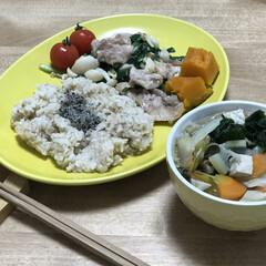 豚肉/簡単レシピ/ニラ/時短レシピ いつの日かの夕ご飯!豚肉、ブナピー、ニラ…