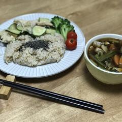夕ご飯/簡単ごはん/ブロッコリー/ミニトマト/ズッキーニ/鶏肉/... いつの日かのダイエットコーチのリアル夕ご…