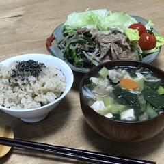 もやし/ニラ/夕ご飯/牛肉/簡単レシピ/時短レシピ いつの日かの夕ご飯!メインは、牛肉、ニラ…