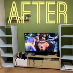 DIY/テレビボード/テレビボードDIY/棚/リビング/ハンドメイド/... 久しぶりにDIYしました! テレビボード…(2枚目)