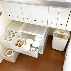 フレッシュロック 角型 1.1L(その他調理用具)を使ったクチコミ「キッチンの収納を見直しました。15年くら…」