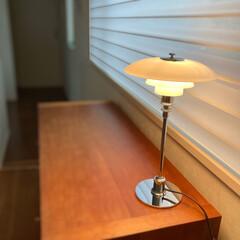 llouis poulsen ルイスポールセン PH 2/1 Table シルヴァー | ルイス・ポールセン(デスクライト)を使ったクチコミ「久しぶりにチェストの上が片付いたので、寝…」