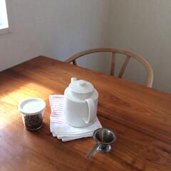 イッタラ/北欧食器/ティーポット/ティーマ/キッチン雑貨/おすすめアイテム/... ほうじ茶を淹れて、水筒にうつすのが朝の日…