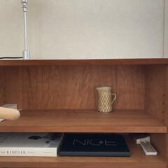 llouis poulsen ルイスポールセン PH 2/1 Table シルヴァー   ルイス・ポールセン(デスクライト)を使ったクチコミ「ブックシェルフの棚板の高さをギリギリまで…」(1枚目)