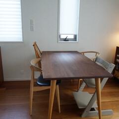 STOKKE トリップトラップチェア TRIPP TRAPP 子供椅子 ダイニング ベビー チェア イス ストッケ社(ベビーラック、チェア)を使ったクチコミ「メンテナンスを終えたダイニングテーブルが…」
