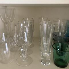 リーデル オー ヴィオニエ/シャルドネ 2客セット | リーデル(アルコールグラス)を使ったクチコミ「食器棚の収納。イッタラのシャンパン用グラ…」(1枚目)