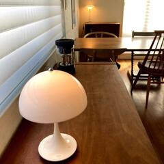 llouis poulsen ルイスポールセン Panthella Table | ルイス・ポールセン(デスクライト)を使ったクチコミ「日が少し落ちた頃から、少しずつ照明をつけ…」