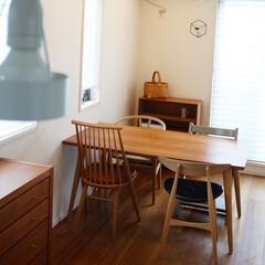 STOKKE トリップトラップチェア TRIPP TRAPP 子供椅子 ダイニング ベビー チェア イス ストッケ社(ベビーラック、チェア)を使ったクチコミ「キッチンからの眺め。 ブックシェルフをダ…」