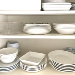 イッタラ ティーマ ボウル 15cm ホワイト | イッタラ(鉢、ボウル)を使ったクチコミ「取り出しやすい食器棚の下の部分に、毎日使…」