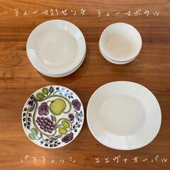 イッタラ ティーマ プレート 21cm ホワイト IITTALA 16452 | イッタラ(皿)を使ったクチコミ「毎日のように使っている食器。 日々の食事…」