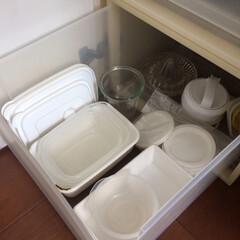 WECK ウェック Mold Shape モールドシェイプ 250ml WE-900   ウェック(食品保存容器)を使ったクチコミ「保存容器などは、無印良品の引き出し収納に…」