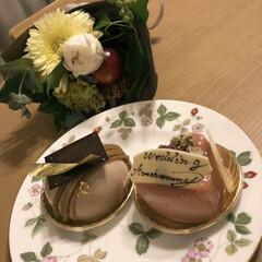 プレゼント/DEL'MMO/青山フラワーマーケット/ケーキ/結婚記念日 27年めの結婚記念日 2人の娘が、サプラ…