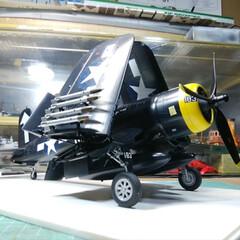 プラモデル/フォロー大歓迎/DIY/ハンドメイド/雑貨 アメリカ🇺🇸空軍の艦上戦闘機コルセア!太…