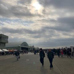 戦闘機/航空祭/百里基地/フォロー大歓迎/風景/旅 航空祭来ました!早速海自の制服でーす😊広…(3枚目)