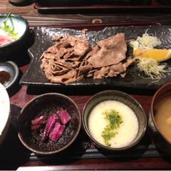 牛タン/フォロー大歓迎/グルメ/フード 今日のランチは渋谷の和食の店 牛タンラン…