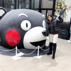 くまモン/帰省/2018/フォロー大歓迎/おでかけ/旅行/... 熊本駅でくまモンの生首と!😊昨夜はニュー…