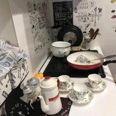 Wedgwood ワイルド・ストロベリー ティーカップ&ソーサー ピオニー | ウェッジウッド(マグカップ)を使ったクチコミ「今日もお友達が来て 色々作りました😊普段…」