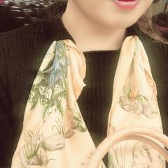 しまむら/ファッション/おすすめアイテム/暮らし/フォロー大歓迎 しまむらの2ピンクで、スカーフ付きのニッ…(2枚目)