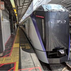 鉄道マニア/令和元年フォト投稿キャンペーン/令和の一枚/フォロー大歓迎/LIMIAファンクラブ/ハンドメイド/... 特急かいじで山梨、富士山への旅ー😊 甲斐…