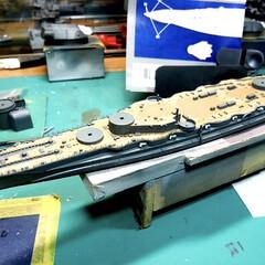 戦艦比叡/プラモデル/戦艦/フォロー大歓迎/ハンドメイド/雑貨/... コレは戦艦比叡、船体まで仕上げてます。こ…