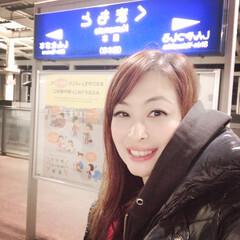 2018/フォロー大歓迎/冬/おでかけ/旅行/風景/... 帰省で新幹線🚅熊本に着きましたー!今夜は…