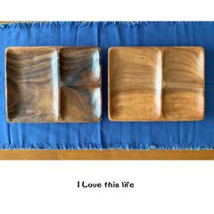 食器/北欧/ワンプレート/お皿/木のお皿/木のプレート/... ワンプレートご飯を作りたくて、 木のプレ…