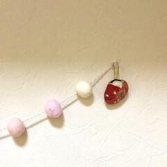 貝/おひな様/ハンドメイド/雑貨/インテリア 姉が貝殻で作った、ちびちびおひな様をもら…